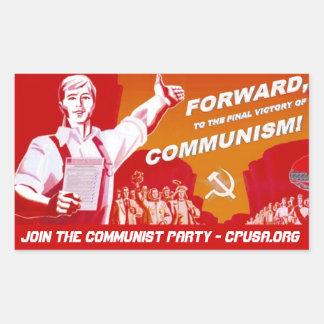 Kommunistischer Party-Aufkleber Rechteckiger Aufkleber