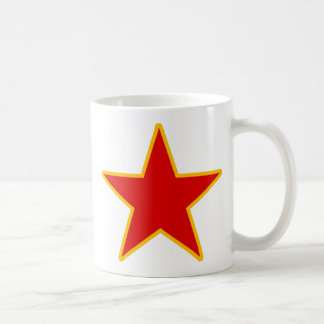 Kommunistischer roter Stern Kaffeetasse