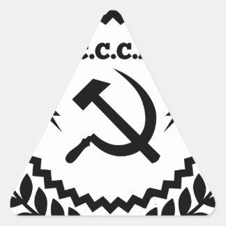 Kommunistisches CCCP Hammer-Sichel-Abzeichen Dreieckiger Aufkleber
