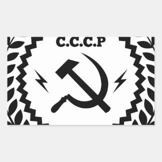 Kommunistisches CCCP Hammer-Sichel-Abzeichen Rechteckiger Aufkleber