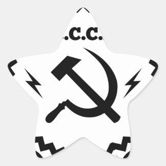 Kommunistisches CCCP Hammer-Sichel-Abzeichen Stern-Aufkleber
