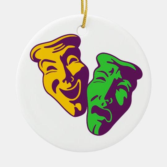 Komödie Tragödie Theater comedy tragedy theatre Rundes Keramik Ornament