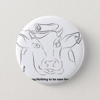 Komödien-Kuh Runder Button 5,7 Cm