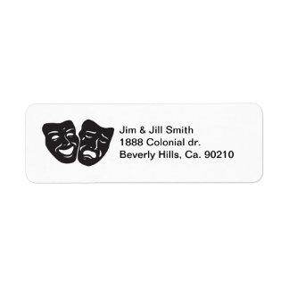 Komödien-Tragödie-Drama-Theater-Masken