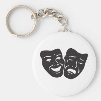Komödien-Tragödie-Drama-Theater-Masken Schlüsselanhänger