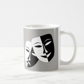 Komödien-Tragödie-Maske -- Kaffee-Tasse Kaffeetasse