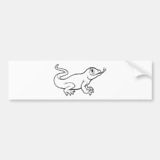Komodo Drache-Eidechsen-Cartoon-Charakter Autoaufkleber