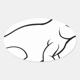Komodo Drache-Eidechsen-Cartoon-Charakter Ovaler Aufkleber