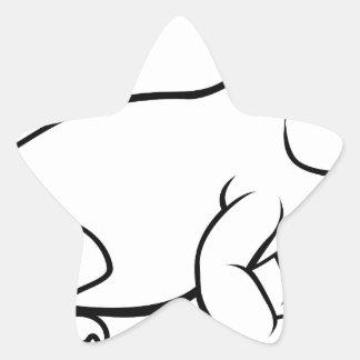 Komodo Drache-Eidechsen-Cartoon-Charakter Stern-Aufkleber