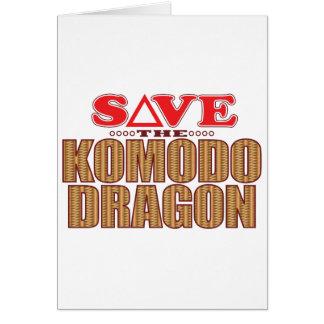 Komodo Drache retten Karte