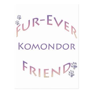 Komondor Furever Postkarte