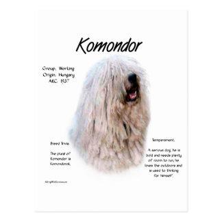 Komondor Geschichtsentwurf Postkarte