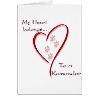 Komondor Herz gehört Karte