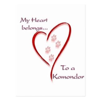 Komondor Herz gehört Postkarte