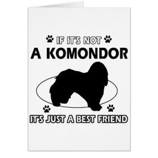 KOMONDOR Hundeentwürfe Karte