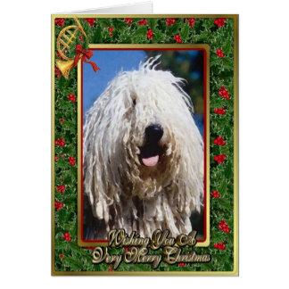 Komondor Hunderaum-Weihnachtskarte Karte