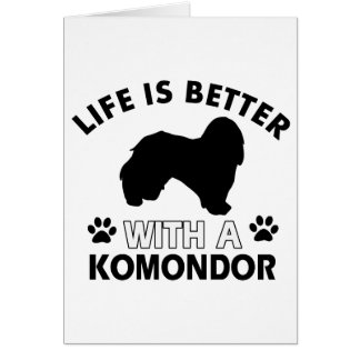 Komondor Hundezuchtentwürfe Karte