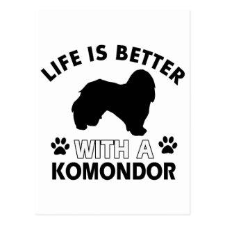 Komondor Hundezuchtentwürfe Postkarte
