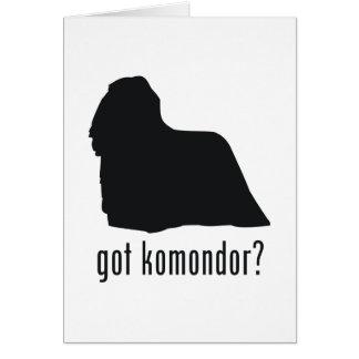 Komondor Karte