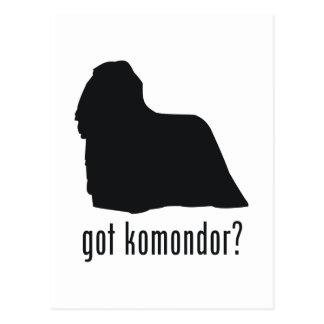 Komondor Postkarte