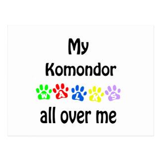 Komondor Weg-Entwurf Postkarte