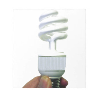 Kompakte Leuchtstoffbirne Notizblock