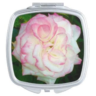 Kompakter Spiegel der Rose Schminkspiegel