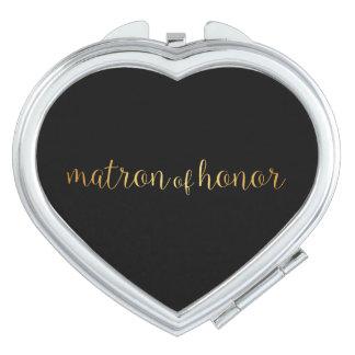 Kompakter Spiegel - goldene Matrone der Ehre Taschenspiegel
