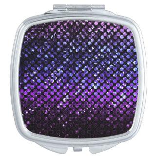 Kompakter Spiegel lila KristallBling Strass Schminkspiegel