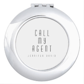 Kompaktes Spiegel-Rund-Silber-CALLMYAGENT Taschenspiegel