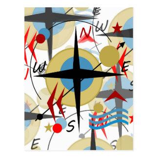Kompass 4 postkarte