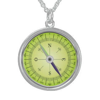 Kompass-Entwurf Sterlingsilber Halsketten