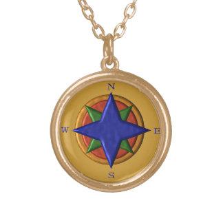 Kompass-Entwurf Halskette Mit Rundem Anhänger
