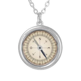 Kompass-Entwurfs-Halskette Halskette Mit Rundem Anhänger
