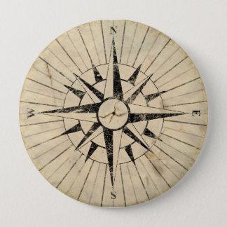 Kompass-Gesicht Runder Button 10,2 Cm