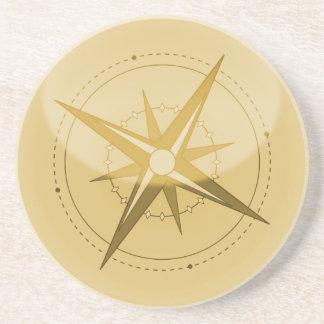 Kompass Getränkeuntersetzer