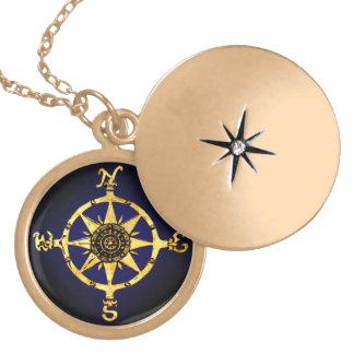 Kompass-Halskette Runde Medaillon Halskette