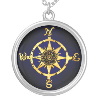 Kompass-Halskette Halskette Mit Rundem Anhänger