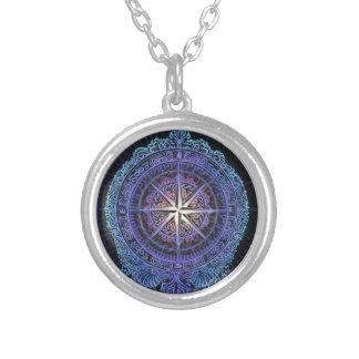Kompass Ihres Souls Versilberte Kette