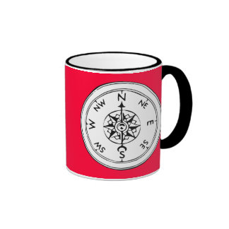 Kompass-Kunst Ringer Tasse