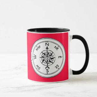 Kompass-Kunst Tasse
