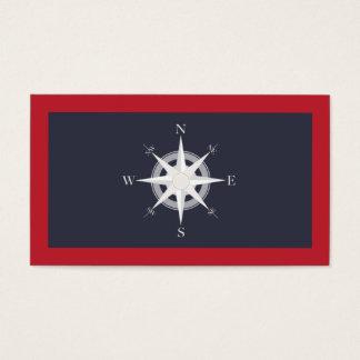 Kompass-Marine-Blau und rotes See Visitenkarte