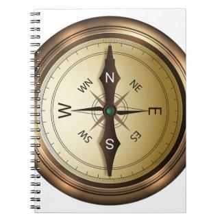Kompass-Norden-Südostwesten Spiral Notizblock
