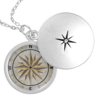 Kompass-Richtungs-Entwurfs-Punkt-Boden-Tischplatte Versilberte Kette