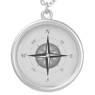 Kompass-Rose Halskette