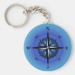 Kompass-Rose Schlüsselanhänger