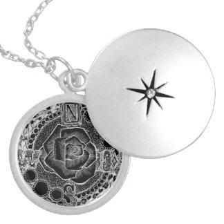Kompass-Rose - viktorianisches gotisches Steampunk Runde Medaillon Halskette