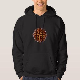 Kompass-Rosen-Holz Hoodie