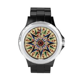Kompass-Rosen-Seeuhr