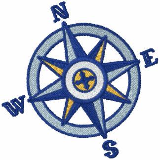 Kompass-Rosen-Segeln Bestickte Polos